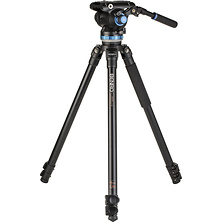 A373F Aluminum Single-Tube Tripod with S8Pro Fluid Video Head Image 0