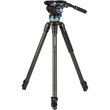 C373F Carbon Fiber Single-Tube Tripod with S8Pro Fluid Video Head Image 0