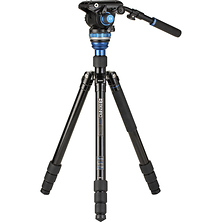 A3883 Reverse-Folding Aluminum Travel Tripod with S6Pro Fluid Video Head Image 0