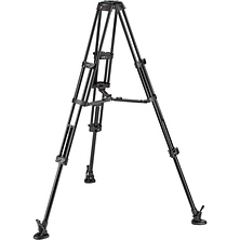 Aluminum Twin Leg Video Tripod with Middle Spreader Image 0