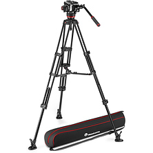 504X Fluid Video Head & MVTTWINMA Aluminum Tripod with Mid-Level Spreader Image 0
