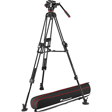 504X Fluid Video Head & 645 Aluminum Tripod with Mid-Level Spreader Image 0