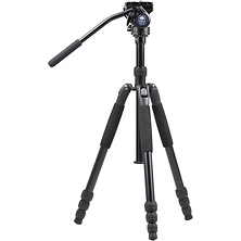T-004SK Aluminum Tripod with VA-5 Ultra-Compact Video Head Image 0