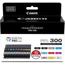 PFI-300 Ten Color Ink Tank Value Pack Image 0