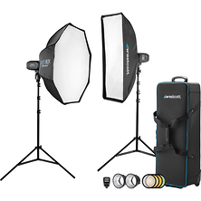 2-Light Location Kit with FJ-X2m Wireless Trigger, Rapid Box Switch Octa-M, and 1x3 Strip Bank Image 0