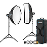 2-Light Location Kit with FJ-X2m Wireless Trigger, Rapid Box Switch Octa-M, and 1x3 Strip Bank