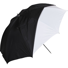 32in. White Satin Umbrella With Removable Black Cover Image 0