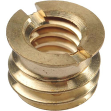 BS-100 3/8 inch -16 to 1/4 inch -20 Brass Reducer Bushing Image 0